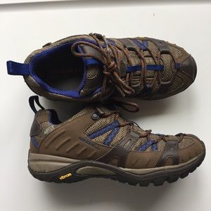 Merrell Women's Brown Blue Hiking Shoes